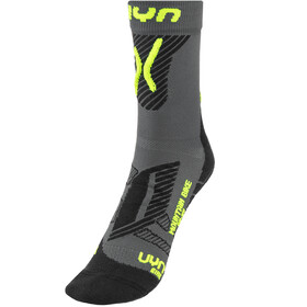 UYN Cycling MTB Light Calcetines Hombre, anthracite/yellow fluo